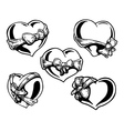 Valentine heart with a bowknot vector image vector image