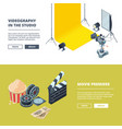video and photo production template vector image