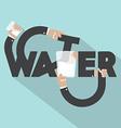 Water Typography Design vector image vector image