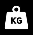 weight kilogram icon design vector image
