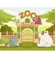 welcome to zoo vector image vector image