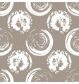 White blots on white coffee background vector image vector image