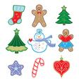 winter symbols vector image vector image