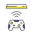 wireless gaming controller color icon vector image