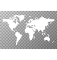 Worldwide map on transparent background vector image vector image