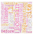 Your Own Com text background wordcloud concept vector image vector image