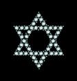 Diamond Star Of David vector image