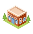 Isometric barber shop on a white background vector image