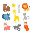Cartoon animals zoo vector image