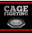 Cage Fighting Poster vector image