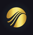 round abstract globe gold logo vector image