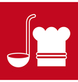 Chef hat and ladle vector image