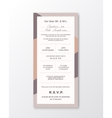Wedding Invitation Template Modern vector image