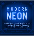 131 neon font b vector image vector image