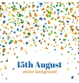 15th august - independence day celebration vector image