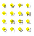 16 geometric icons vector image vector image