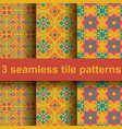 3 tile patterns vector image vector image