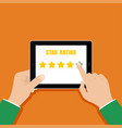 5 stars star rating business concept vector image