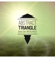 Abstract green sunset with triangle field vector image vector image