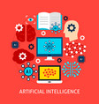 artificial intelligence flat concept vector image