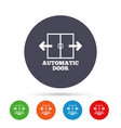 automatic door sign icon auto open symbol vector image