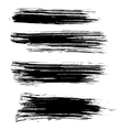 Black ink brush strokes background vector image vector image