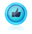 Blue like button vector image vector image