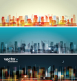 City landscape vector image vector image