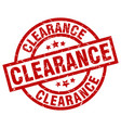 Clearance round red grunge stamp