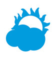cloud with sun weather sky image vector image vector image