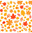 colored autumn pattern vector image