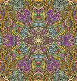 colorful hand drawn seamless pattern vector image vector image