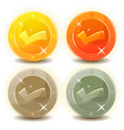 credit coins set for game interface vector image vector image