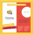 database briefcase company brochure template vector image vector image