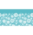 Decorative Snowflake Frost Horizontal Seamless vector image vector image