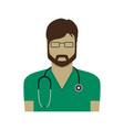 doctor flat design vector image vector image