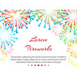 fireworks wedding background vector image vector image