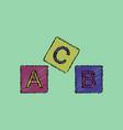 flat shading style icon toy blocks vector image vector image