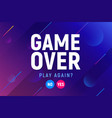 game over video screen background vector image