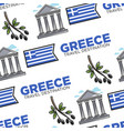 greece travel destination seamless pattern greek vector image vector image