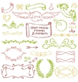 Hand-drawn elements set vector image vector image
