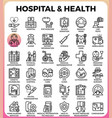 hospital and health concept icons vector image vector image
