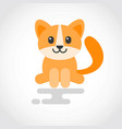icon a cute cat in flat design vector image vector image