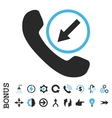 Incoming Call Flat Icon With Bonus vector image vector image