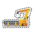 industrial robot icon vector image vector image