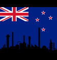 industry and flag of new zealand vector image