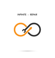 Infinite repair logo elements design vector image