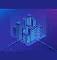 isometric future city real estate and vector image