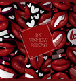 lip seamless pattern cartoon beautiful red vector image