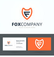 Logo and business card template vector image vector image